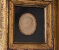 Framed Georgian Plaster Cast Profile Medallion (3 of 5)