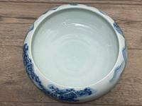 Interesting Chinese Meiping Qianlong Style Round Blue White Porcelain Bowl (18 of 26)
