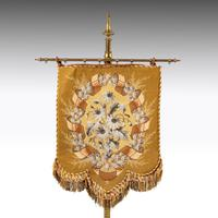 Attractive Late 19th Century Gilded Pole Screen (3 of 4)