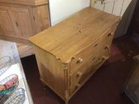 Vintage Pine Continental Three Drawer Chest of Drawers (3 of 8)
