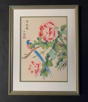 Very Attractive Set of Four Chinese Watercolours on Silk Pictures (3 of 5)