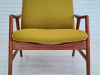Alf Svensson, 60s, Armchair Model Kontur, Completely Restored, Furniture Wool (11 of 16)