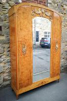 French Art Deco Burr Ash, Marquetry & Gilt Metal Mounted Wardrobe c.1910 (4 of 18)