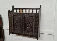 Arts & Crafts Tramp Art Antique Gothic Wall Cabinet (2 of 4)
