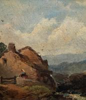 Joseph Horlor Small Original 19th Century Welsh Landscape Oil Painting (6 of 12)