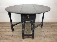 Antique 19th Century Small Oak Gateleg Table (4 of 8)