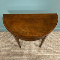 Stunning Demi Lune Mahogany Antique Card / Games Table (4 of 7)