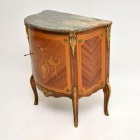 Antique French Inlaid  Marquetry Marble Top Cabinet (3 of 10)