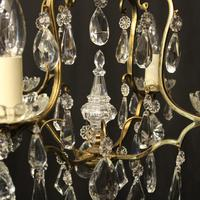 French Gilded 4 Light Cage Antique Chandelier (7 of 10)