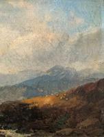 Joseph Horlor Small Original 19th Century Welsh Landscape Oil Painting (3 of 12)