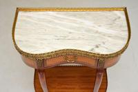 Antique French Marble Top Kidney Side Table (5 of 11)