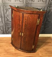 Good Georgian Oak Bow Front Corner Cupboard (7 of 8)