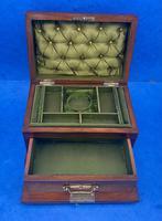 Victorian Walnut Jewellery Box c.1900 (11 of 13)