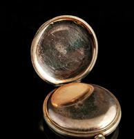 Antique Half Hunter Pocket Watch, Gold Plated, Waltham (4 of 11)
