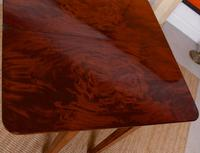 Writing Table 19th Century Flamed Mahogany Folding Card Console Table (12 of 12)