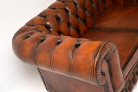 Antique Victorian Style Leather 2 Seat Chesterfield Sofa (6 of 13)