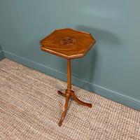 Unusual Victorian Satinwood Jardinière / Side Table (8 of 8)