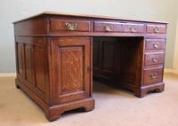 Antique Oak Partners Writing Desk (2 of 10)