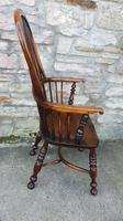 Fine Quality High Back Yew Wood Windsor Chair (3 of 3)