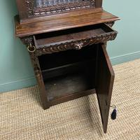 Victorian Carved Oak Antique Bookcase (8 of 9)