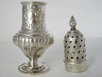 Large Victorian Silver Sugar Caster in a Baluster Shape and Pull Off Lid (4 of 6)
