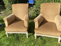 Large Pair of Upholstered Armchairs (6 of 6)