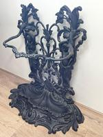 Art Nouveau Style Black Heavy Cast Iron French Nubile Umbrella Stand Corneau Alfred A Charlesville No 27 (33 of 41)