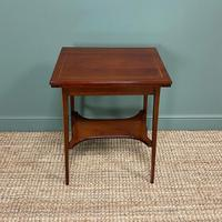 High Quality Edwardian Inlaid Antique Card Table (4 of 6)