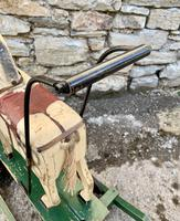 Antique Wooden Push Along Rocking Horse Toy (5 of 19)