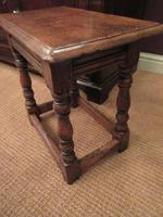 Antique George II Style Oak Joint Stool (4 of 5)