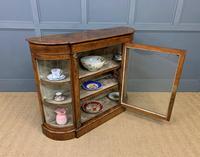 Victorian Burr Walnut Glazed Side Cabinet (13 of 15)