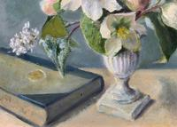 Fabulous Original 20th Century Floral Still Life Study Oil on Board Painting (5 of 11)