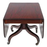 Regency Cuban Mahogany Drop-leaf Dining Table