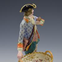 Fine Pair Minton Porcelain Sweetmeat Figures with Baskets Models 84 & 85 c.1830 (20 of 23)