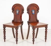 Good Pair of Victorian Mahogany Hall Chairs (5 of 8)