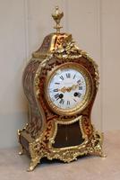 French Tortoiseshell & Brass inlay Mantel Clock (4 of 14)