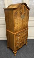 Burr Walnut Cupboard Over Chest (9 of 15)