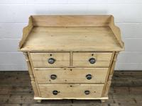 Victorian Antique Pine Chest of Drawers with Gallery Back (3 of 10)