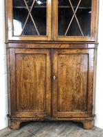 Antique Early 19th Century Oak Standing Corner Cupboard (7 of 7)