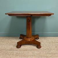 Spectacular William IV Adjustable Antique Reading Table / Library Table (3 of 8)