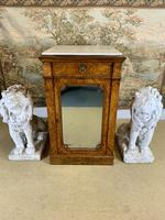 Single Burr Walnut Cabinet with Marble Top (4 of 7)
