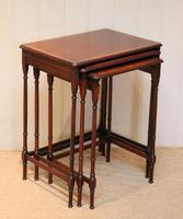 Mahogany Nest of Three Tables (6 of 11)
