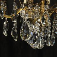Italian 8 Light Gilded Bronze Antique Chandelier (6 of 10)