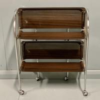Vintage Gerlinol Folding Drinks Trolley with Capped Castors (5 of 6)