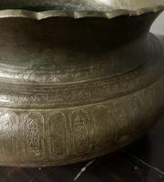Good Size Persian 19th Century Patinated Brass Bowl (8 of 8)