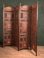 Handpainted Moroccan 4 fold screen (14 of 19)