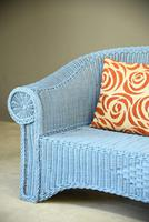 Blue Wicker Sofa (7 of 10)