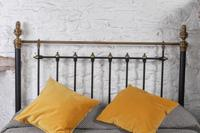 Handsome Victorian Naturally Aged Brass & Iron King Size Bed (6 of 8)