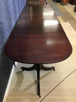Mahogany Triple Pedestal Dining Table (10 of 10)