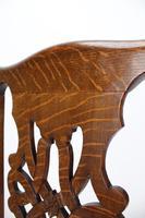 Set 4 Edwardian Arts & Crafts Oak Dining Chairs (7 of 13)